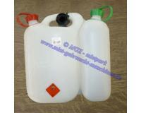 Kanister (Kombikanister / Doppelkanister) transparent m.2 Ausgießer f. 5 Ltr. Gemisch u.3 Ltr. Öl