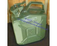 Kanister Benzin aus Stahlblech f. 5 Ltr. m.Schnellverschluß, olivgrün, 1,6 kg, UN-Zulassung nach GGVS